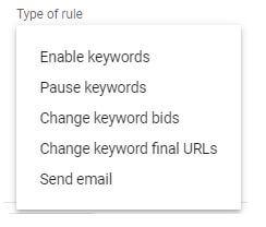 Create a Keyword Rule