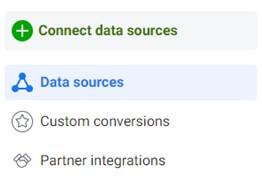 Facebook Connect Data Sources