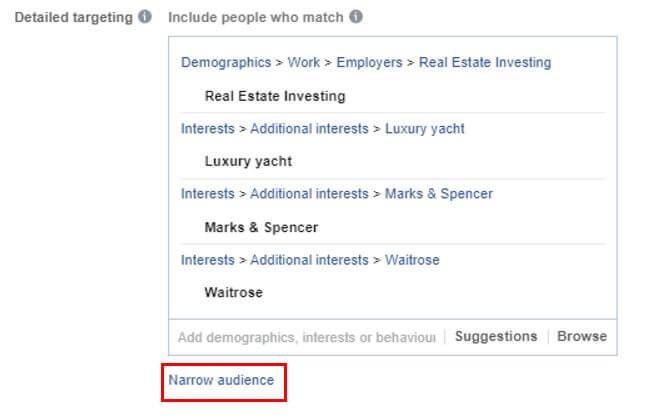 Narrow Facebook Targeting