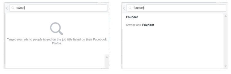 Searching for Facebook Audiences