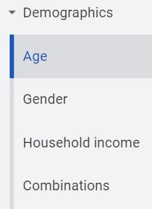 Google Ads Age Performance Tab