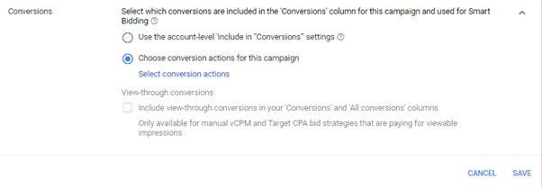 Choose Conversion Action