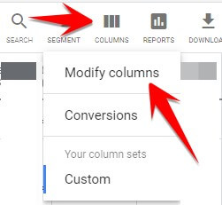 Click on Columns