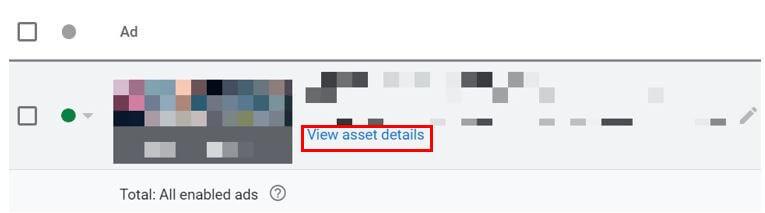 View asset details