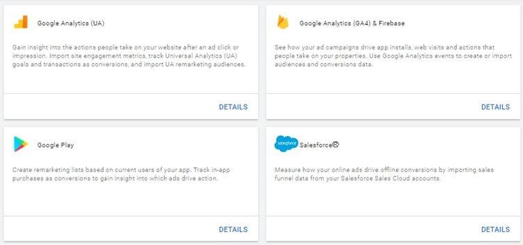 Google Ads Account Linking Options