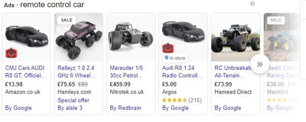 Google Shopping Ads Example