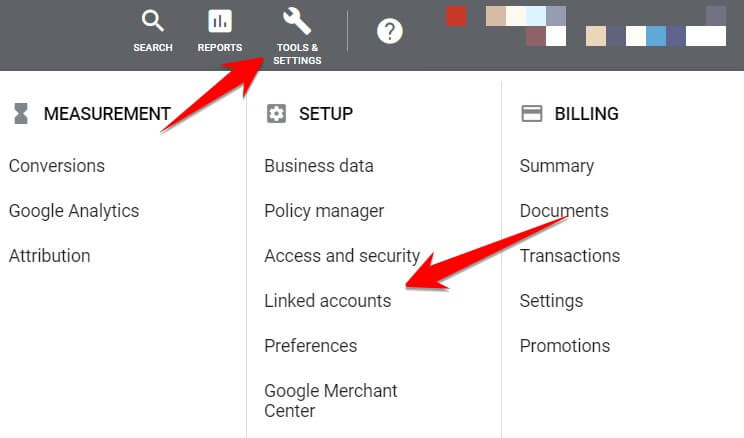 Where To Find Linked Accounts In Google Ads